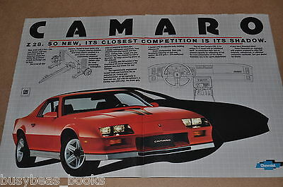 1982 Chevrolet Camaro 2-page advertisement, Chevy CAMARO Z28