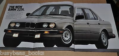 1987 BMW 325i 6-page advertisement, BMW 325 I, huge fold-out photo