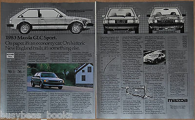 1983 MAZDA GLC Sport 2-page advertisement, photos, cutaway drawing