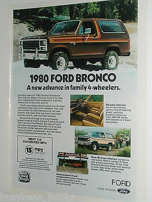 1980 Ford ad, Ford Bronco 4x4, color photos
