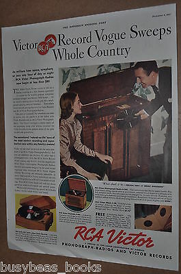 1937 RCA Victor advertising page, RCA VICTOR Record Players, U-105, R-96