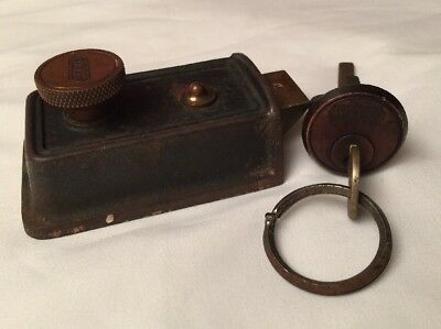 2 Vintage YALE Door Locks 1 Knob Slide Lock Pat. 1896, 1 Key Door Cabinet Lock