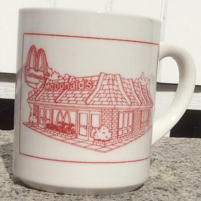 "VTG 1985 McDONALDS WESTBROOK ME ""OUR FAMILY WELCOMES"" ADVERTISING COFFEE MUG CUP"