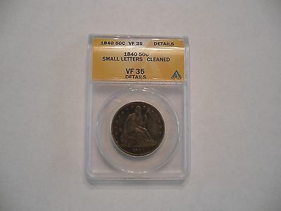 1840 Seated Liberty Half Dollar ANACS VF35 Details
