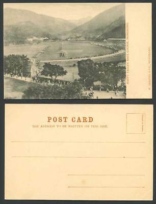 Hong Kong China Old UB Postcard Happy Valley Race Course Racecourse Street Scene