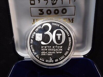 INV #Th44 Israel 1996 Silver Independence Day Commemorative Proof w/ COA