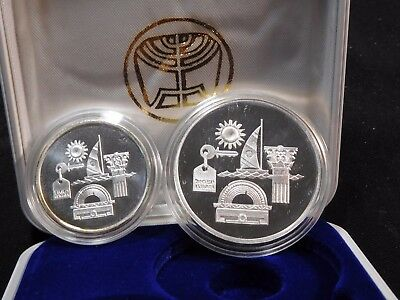 INV #Th49 Israel 1993 Silver Independence Day 1 & 2 New Sheqalim Proof w/ COA