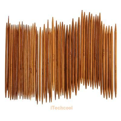 55Pcs 11sizes 5'' 13cm Double Pointed Carbonized Bamboo Knitting Needles #T1K
