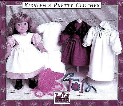 Kirsten's Pretty Clothes Pattern~Pleasant Company~American Girl~1990 New~Sealed!