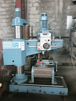 South Bend GH50-1000 Radial Arm Drill MT#4 Spindle, Tilting Box Table, Vise