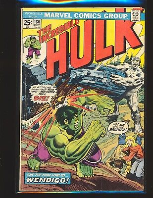 Incredible Hulk # 180 - 1st Wolverine cameo Good Cond. MVS cut out other pgs cut