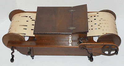 Antique Mechanical Organette! 14 Notes! One Roll Included! Wood, Nice Finish!