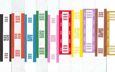 100 Self Adhesive Us Currency Strap Bands You Choose How Many Of Each You Want