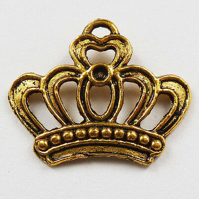 free ship 1000pcs gold plated crown charms 22x18mm