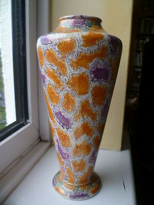 Rare Vintage 1920's Art Deco Form Bretby British Studio Art Pottery Caliph Vase