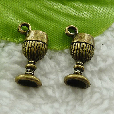 168 pcs bronze plated goblet charms 19x9mm B-4638 free ship