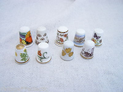 QUALITY MIXED LOT CHINA THIMBLES SPODE ADAMS HAMMERSLEY WEDGWOOD WORCESTER etc..