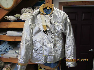 Morning Pride PROXIMITY TURNOUT BUNKER COAT ALUMINIZED SIZE 44x 34 P18 EXC