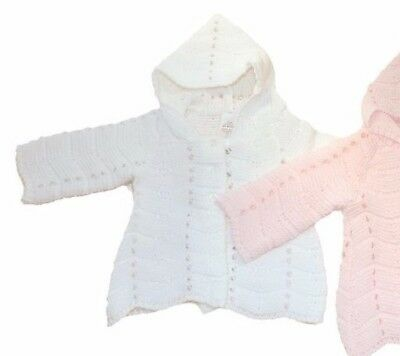 ONE x Traditional long line matinee coat cardigan WHITE 3-6 months
