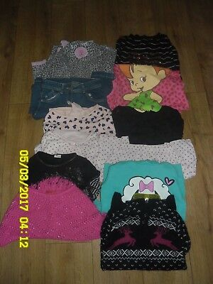 Huge Mixed Bundle Girls Clothes 7-8 years. 12 Items.