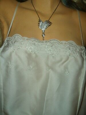 Reizvoller Vintage St. Michael Satin Teddy Gr. L cream Satinteddy  (L190)