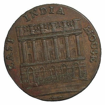 1792 Great Britain Lancashire East India House Halfpenny Conder Token DH-127