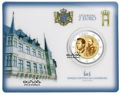 Coincard 2 euros Luxembourg 2017 - Grand Duc Guillaume III - BU