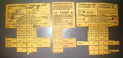 antique old united kingdom britain ministry of food ration coupons 1946