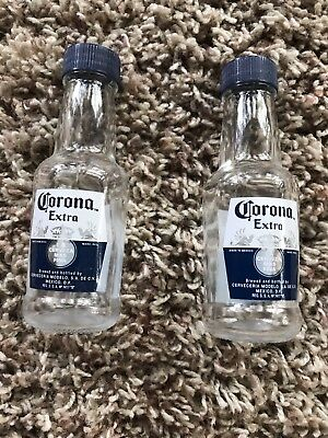 """Corona Extra Salt and Pepper Shakers Miniatures 4.5"""" ~ Tall NEW Very Cool"""