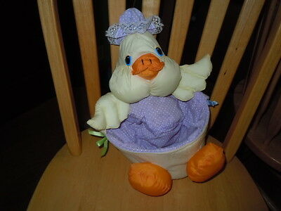 Vintage Puffalump Style Duck Easter Basket Guc