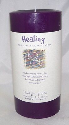 Healing candle - Crystal Journey Candles 3x6 Reiki Pillar Herbal Magick Wicca