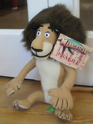"Alex Madagascar Lion Large 12"" Plush Soft Toy By Gosh New With Tag"