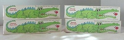 Lot Of 4 Mib 1974 Kid's Alligator Toothpaste By Crest Nos