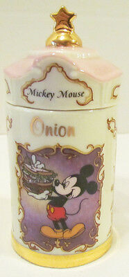 Mickey Mouse Onion Jar Walt Disney Spice Jar Collection 1995 Lenox Porcelain