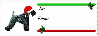 Kerry Blue Terrier Christmas gift tags WATERPROOF 120 pieces