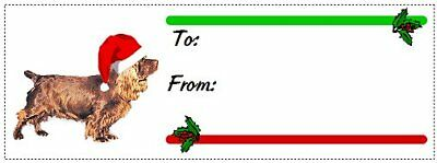 Sussex Spaniel Christmas gift tags WATERPROOF 120 pieces