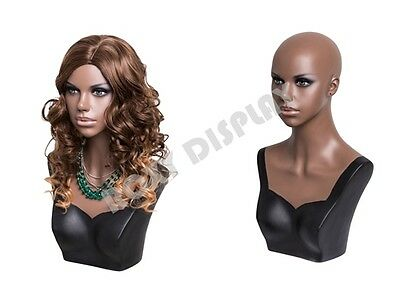 Young African Female mannequin head to shoulder portrait style #MZ-S2