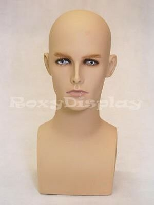 Mannequin Head Bust Wig Hat Jewelry Display Male MD-ERAF2