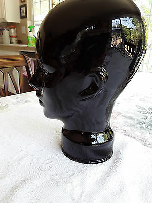 Black Glass Mannequin Head Display