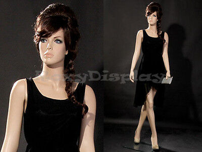 Female Fiberglass Mannequin With Pretty Face Elegant Pose #MZ-ZARA6