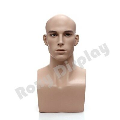 Mannequin Head Bust Wig Hat Jewelry Display Male #MZ-H2