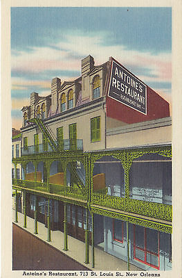 Antoine's Restaurant NEW ORLEANS Louisiana 1930-45 A. Goldsmith Advertising