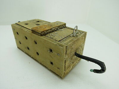 (#2630)  Old Wood Dungeness Crab  Lobster Shrimp Bait Trap Jar Box Crawfish