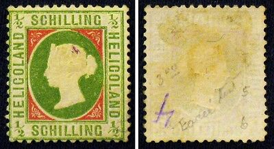 HELIGOLAND 5b? YELLOW GREEN & ROSE? MINT - PERF 13 1/2 X 14