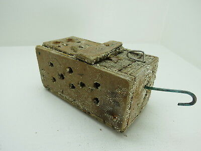 (#2633)  Old Wood Dungeness Crab  Lobster Shrimp Bait Trap Jar Box Crawfish