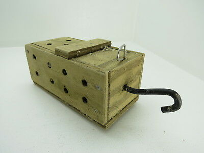 (#2634)  Old Wood Dungeness Crab  Lobster Shrimp Bait Trap Jar Box Crawfish