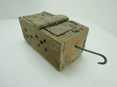 (#2635)  Old Wood Dungeness Crab  Lobster Shrimp Bait Trap Jar Box Crawfish