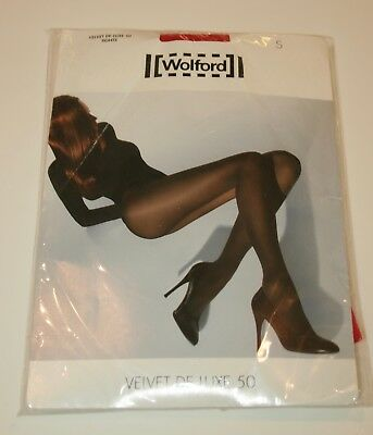 Wolford Velvet De Luxe 50 Denier Opaque Tights Pantyhose S Bright Shocking Pink