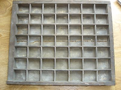 Vintage French PRINTERS TRAY TYPE CASE Drawer Display Rustic Letterpress