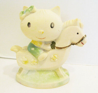 Hello Kitty On Rocking Horse Vintage Vinyl Squeeze Toy Figure By Bucky Mexico
